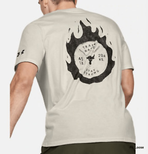 3XL Under Armour Men's Project Rock Stay Strong Short Sleeve T-shirt 1351587-110