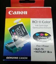 Genuine Canon BC-11  Ink Cartridge - Canon Bubble Jet Color BJC70 New NIP