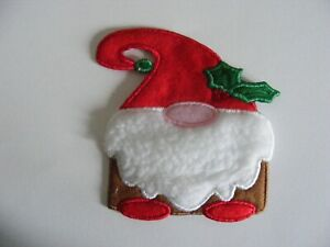 Christmas Gnome applique/patch, sew/iron on