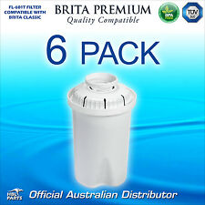 6 x FL601 Premium Water Filter Compatible with Brita Classic Jug Cartridge