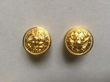 "(2) US NAVY GOLD UNIFORM BUTTONS (3/4"" - 19mm - 30L)"