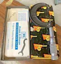 Brown Amp Sharpe 599 20 13 Micrometer 1 2 0001 Carbide Faces Machinist Tool