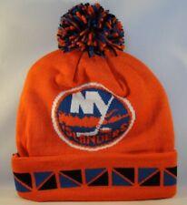 New York Islanders NHL Mitchell & Ness Cuffed Knit Pom Hat