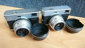 2x Carl Zeiss Werra 3 III Black 35mm Film Rangefinder Camera Tessar 2.8/50 Case