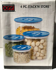 OGGI Stack 'N Store 4 Piece Airtight Canisters New