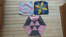 3 Assorted Antique Quilt Blocks, One Early Calico Star