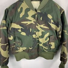 Army Field Coat Camo Boys Xl 80pc Down 20pc Feathers Filled Full Zip Coat