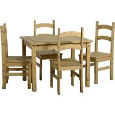 Mercer's Furniture Corona Budget Wood Antique Pine Dining Table and 4 Chairs