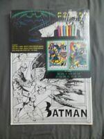 Batman Forever Poster 14x20 & 7 Pen Set NOS (1995) Collectible Arts/Crafts Gift