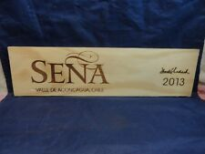 2013 SENA VALLE DE ACONCAGUA CHILE  WOOD WINE PANEL