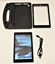 "Amazon 8"" Kindle Fire HD 8 (7th Gen) 16GB Wi-Fi Tablet SX034QT Bundle ~ RESET"