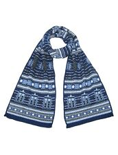 Christmas Gifts For Dr Who Fans-Scarf Doctor Who Blue Tardis Design Official BBC