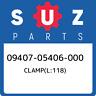 09407-05406-000 Suzuki Clamp(l:118) 0940705406000, New Genuine OEM Part