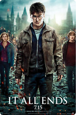"""5 New Harry Potter Deathly """"It All Ends Hallows Part 2 - 12x17 Movie Poster"""