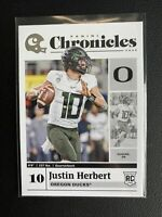 2020 Panini Chronicles Draft Picks Justin Herbert #5 Rookie LA Chargers