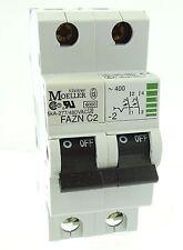 Klöckner Moeller FAZN C2-2 Sicherungsautomat Leitungsschutzschalter 2 polig 2A