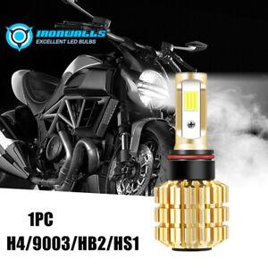 H4 9003 HS1 LED Headlight 2880LM 18W White Hi/Low Beam Motorcycle Fog Light Bulb