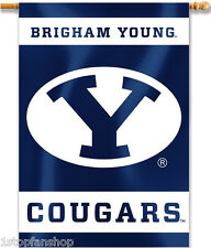 """BYU Cougars 28"""" x 40"""" Two Sided House Banner NCAA Licensed"""