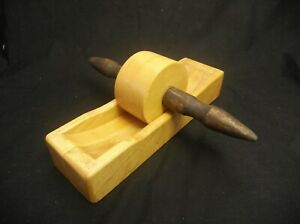 HANDMADE WOODEN ROLLING COFFEE MILL GRINDER BY CHESTNUT HILL COMPANY LISBON OHIO