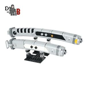 Star Wars Mandalorian Ahsoka Tano white curved Lightsabers made using LEGO parts
