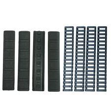 8 Pack Rubber Panel Covers + Ladder Rail Cover for Keymod Handguard - Black