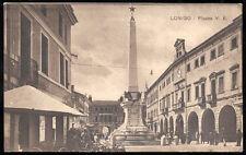 cartolina LONIGO piazza vittorio emanuele