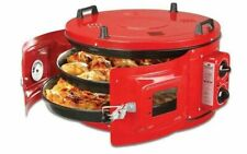 TURKISH Itimat Electrical Roster Grill Round Oven BBQ 32L DOUBLE Tray Mix Grill
