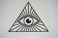 Wall Sticker Art custom Vinyl indoor decal window laptop removable Illuminati