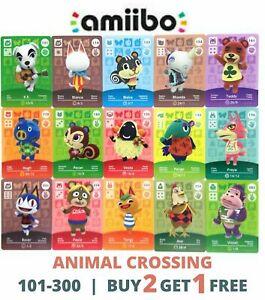 ANIMAL CROSSING AMIIBO CARDS NINTENDO 3DS SERIES 2 & 3 | 101-300
