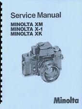 Minolta XM, X-1, XK Cameras Service & Repair Manual Reprint