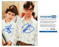 "Fred Savage & Josh Saviano ""The Wonder Years"" AUTOGRAPHS Signed 8x10 Photo ACOA"