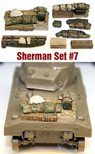 1/35 Scale Resin kit Sherman Engine Deck and Stowage Sets #7 WW2 tank accessory