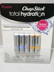 ChapStick total hydration 5 Pack Advanced Nourishing Formula Vanilla Honey New