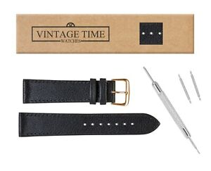 VintageTime Watch Straps - Buffalo Grain XL Calf Leather Replacement Watch Bands