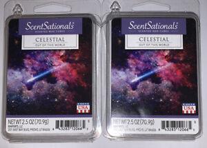 ScentSationals CELESTIAL Scented WAX CUBES / 2 Packs / 2.5 Oz Each