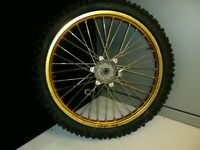 SUZUKI RM 125-250 FRONT WHEEL 1989 / 1995, MAY FIT OTHER YEARS