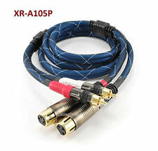 5ft. Pro-Series 2-XLR Female to 2-RCA Male Audio Cable, CablesOnline XR-A10