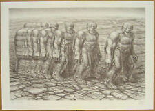 De Es Schwertberger STEPPING OUT original signed lithograph in edition of 170