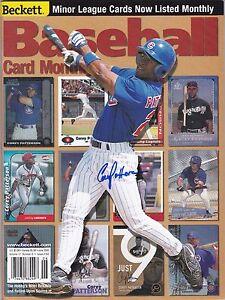 Corey Patterson Autographed Beckett Chicago Cubs