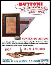 BUITONI STABILIMENTO SAN SEPOLCRO ANNIVERSARIO CONTRATTO 1827 - 1952