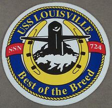 """US Navy Decal - Sticker - USS Louisville SSN-724 - 4"""" Diameter"""
