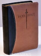 Holy Bible King James Version KJV Giant Print Thumb INDEX Red Letter Sword Study