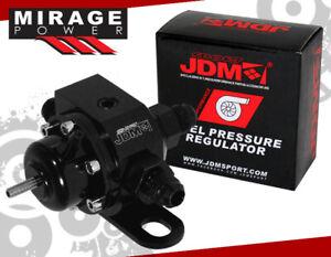 Fuel Pressure Regulator CNC Aluminum PSI Adjustable High Pressure Anodized Black