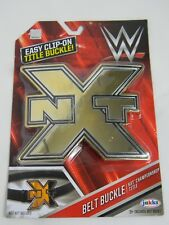 WWE WWF NXT Championship Title Belt Buckle clip on NIP 3+.  Be The Champion toy