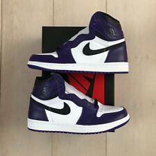 Nike Air Jordan 1 Retro High Court Purple White Black 2.0 (555088-500) NEW