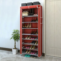 10 Layer 9 Grid Shoe Rack Shelf Storage Closet Organizer Cabinet Multiple