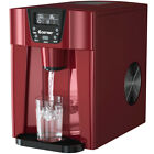 2 In 1 Ice Maker Water Dispenser Countertop 36Lbs/24H LCD Display Portable Red photo
