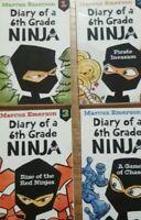 DIARY OF A 6TH GRADE NINJA Book 1 2 3 4  Paperback  4 Books Boys School Drama