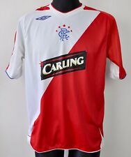 FC RANGERS Away Shirt Men's Large 2006 2007 Jersey Umbro Football VTG Glasgow L