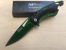 MTech Ballsitic Spring Assisted Green Blade Folding Pocket Knife Switch